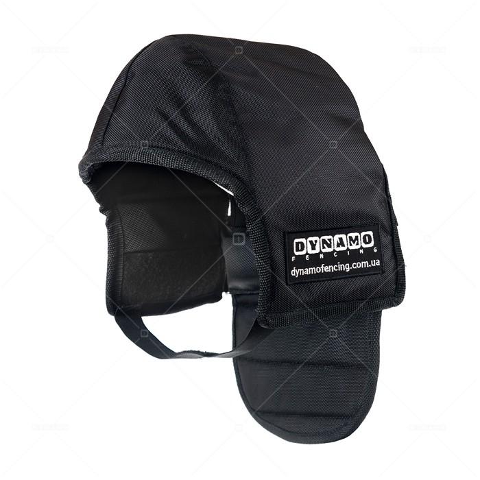 Протектор фехтовальный на маску для ножевого боя с черной подкладкой