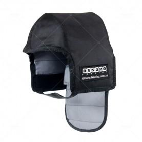 Протектор фехтовальный на маску для ножевого боя  с серой подкладкой