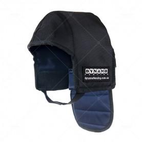 Протектор фехтовальный на маску для ножевого боя с синей подкладкой