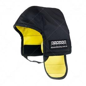 Протектор фехтовальный на маску для ножевого боя с желтой подкладкой