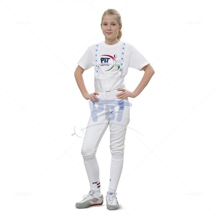"""Брюки фехтовальные FIE """"STRETCHFIT"""" (800 Н) PbT детские"""