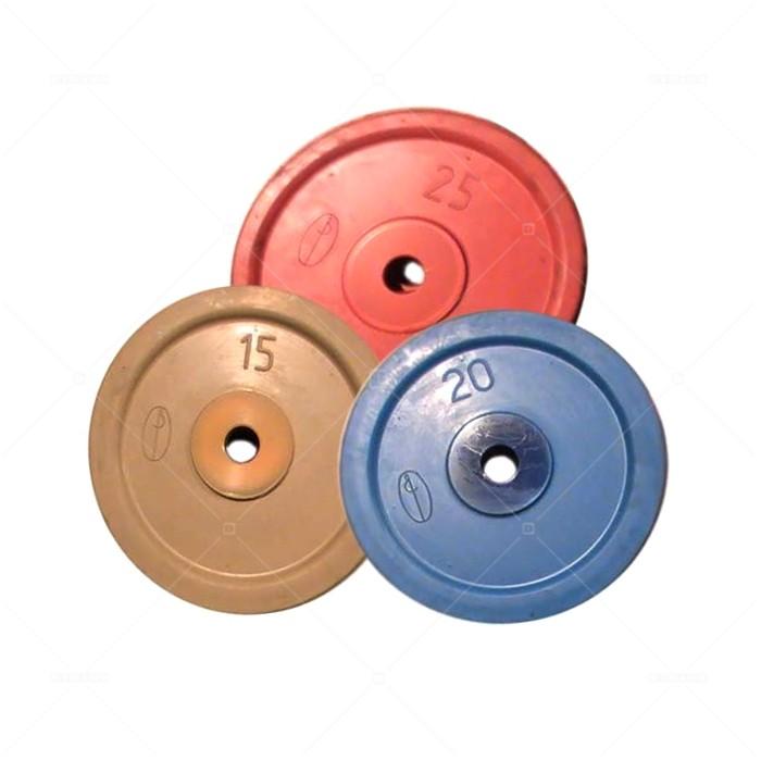 Диск обрезиненный цветной 2,5 - 25 кг DYNAMO