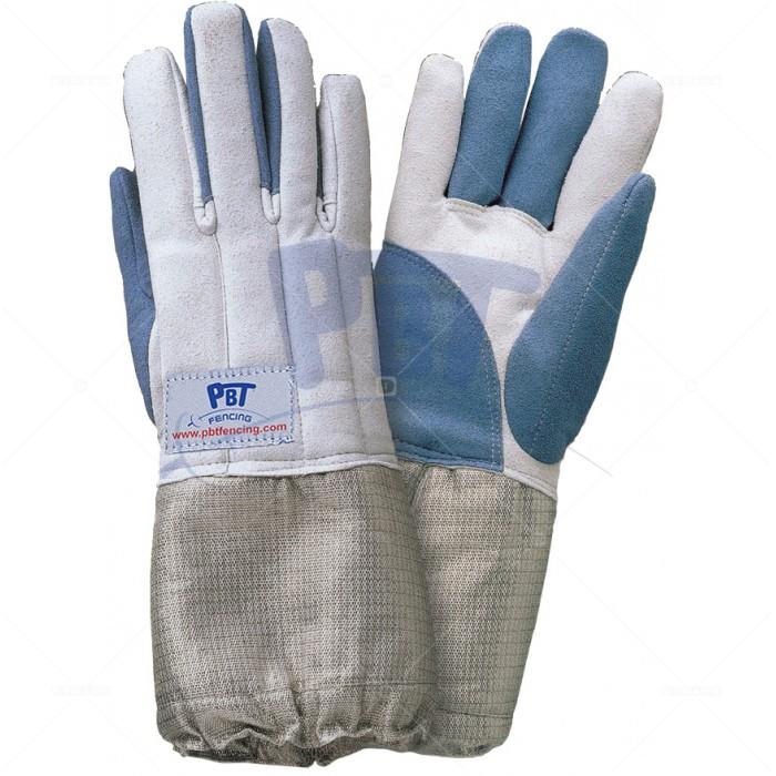 Перчатка моющаяся PBT серо-синяя cабельная
