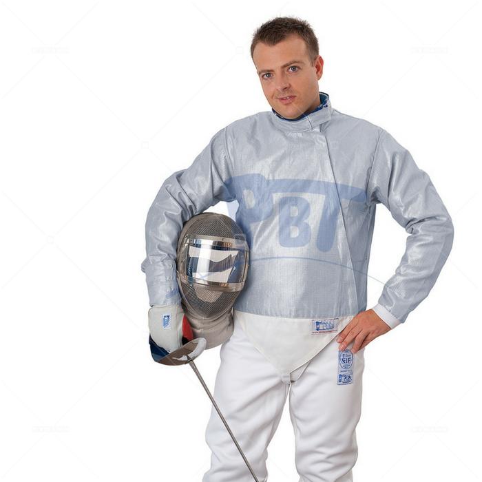 Электрокуртка мужская сабельная Inox PBT, моющаяся  голубая