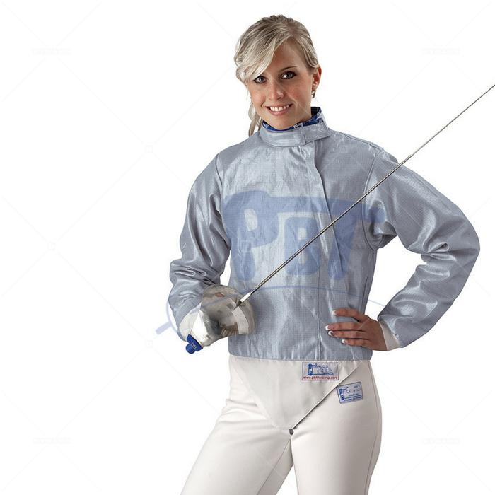 Электрокуртка женская сабельная Inox PBT, моющаяся голубая