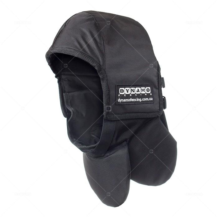 Протектор фехтовальный на маску для исторического фехтования c черной подкладкой